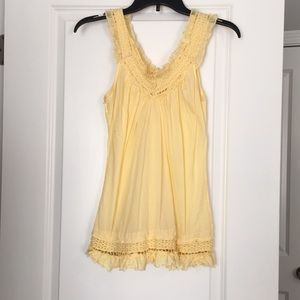 Tops - Pale yellow summer tank top